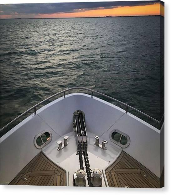 Yachts Canvas Print - Sunset Ahead #juansilvphotos by Juan Silva