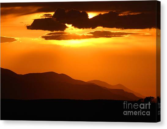 Sunrise Horizon Canvas Print - Sunset Along Colorado Foothills by Max Allen