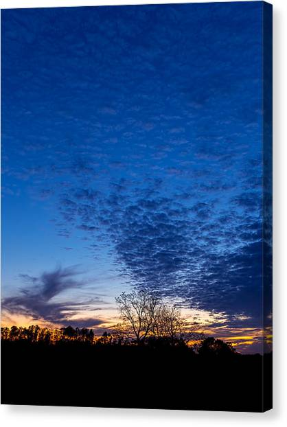 Sunset And Moon Sliver Canvas Print