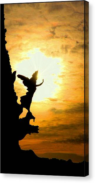 Sunset Angel Canvas Print