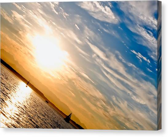 Sunset Angle Canvas Print by Tom Dowd