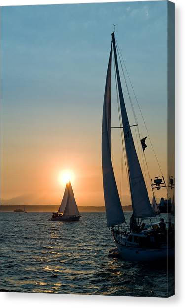 Sunset Apex Canvas Print by Tom Dowd