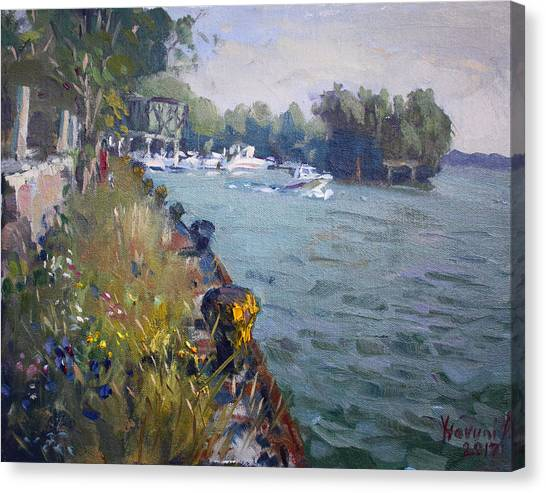 Fisherman Canvas Print - Sunset At An Abandoned Dock by Ylli Haruni