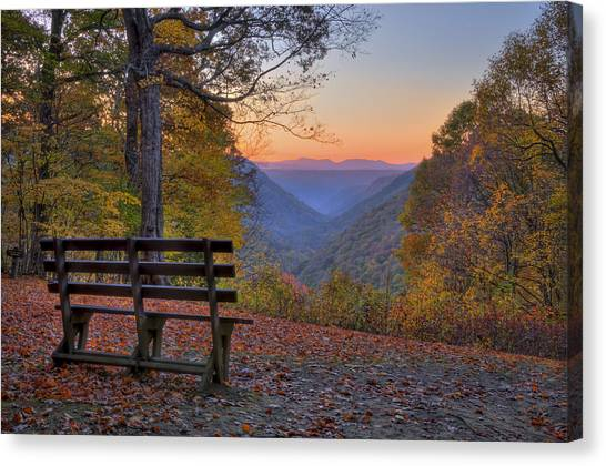 Canvas Print featuring the photograph Sunset At Babcock by Williams-Cairns Photography LLC