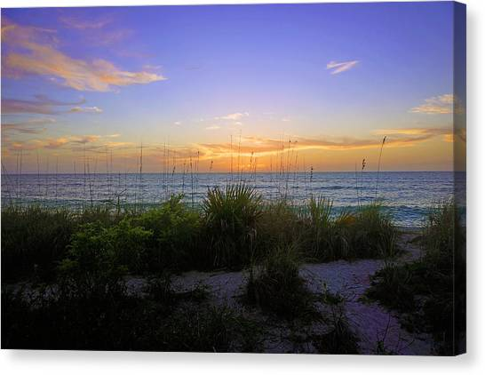 Sunset At Barefoot Beach Preserve In Naples, Fl Canvas Print