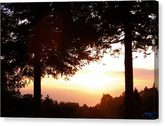 Sunset At Big Sur Canvas Print