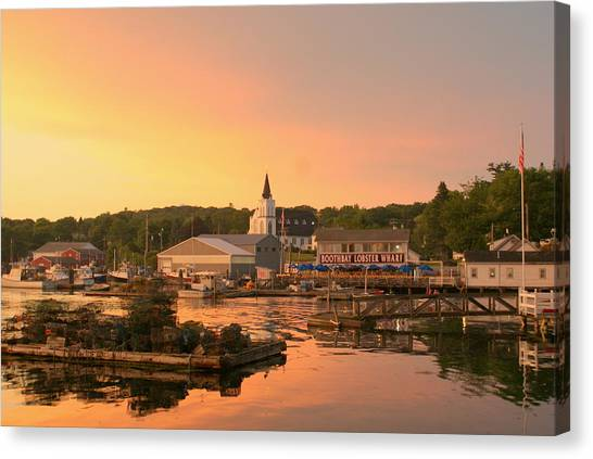 Sunset At Boothbay Harbor Canvas Print