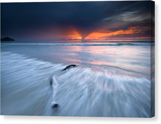 Sunset At Borneo Canvas Print