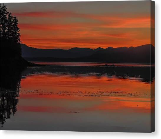 Sunset At Brothers Islands Canvas Print