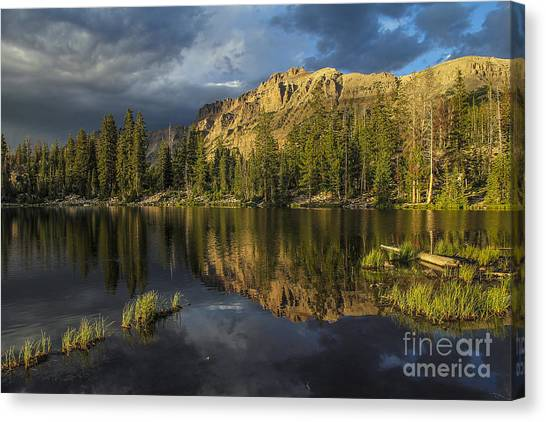 Sunset At Butterfly Lake Canvas Print