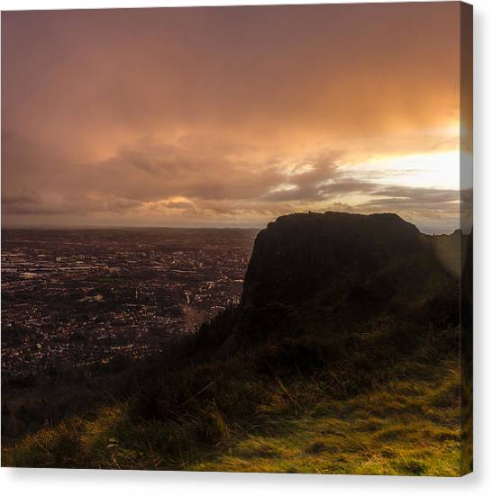 Sunset At Cavehill Canvas Print
