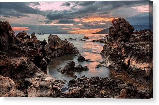 Sunset At Charley Young Beach Canvas Print