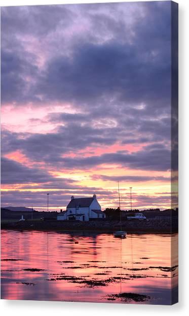 Sunset At Clachnaharry Canvas Print