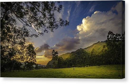 Sunset At Cocora Canvas Print