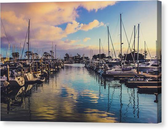 Sunset At Dana Point Harbor Canvas Print