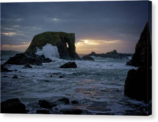 Sunset At Elephant Rock Canvas Print