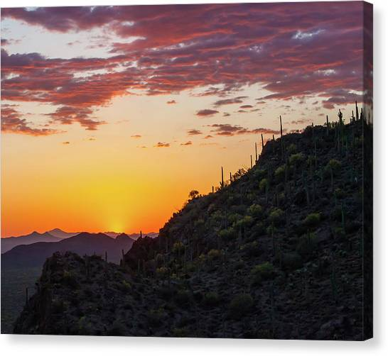 Sunset At Gate's Pass Canvas Print