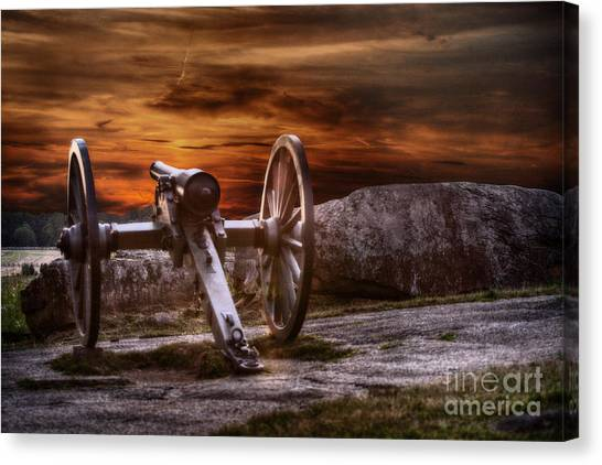 Sunset At Gettysburg Canvas Print