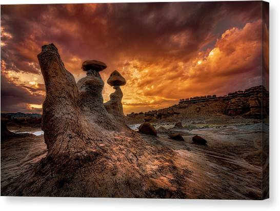 Sunset At Goblin Valley Canvas Print