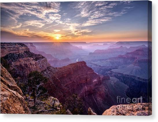Sunset At Grand Canyon Canvas Print