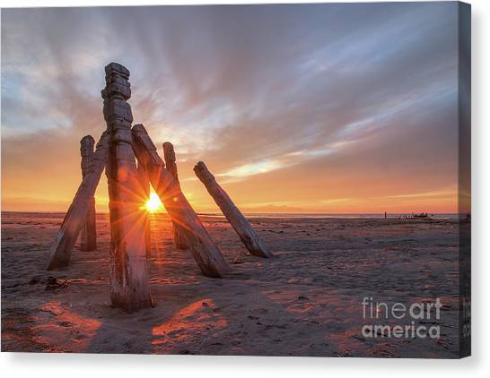 Canvas Print featuring the photograph Sunset At Great Salt Lake by Spencer Baugh