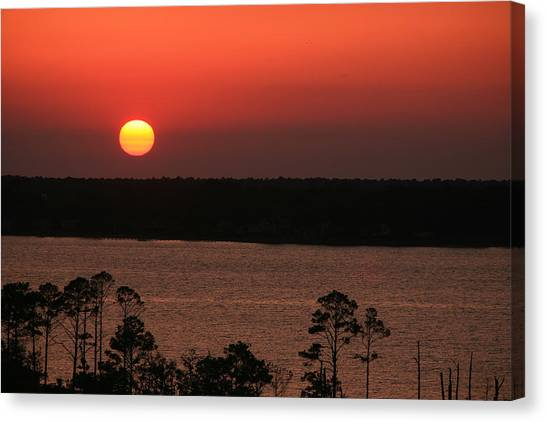 Sunset At Gulfshores Canvas Print by James Jones