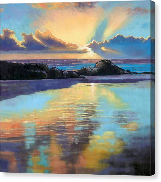Farsund Canvas Print - Sunset At Havika Beach by Janet King