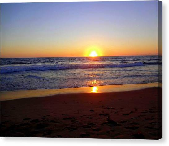Sunset At Hermosa Canvas Print