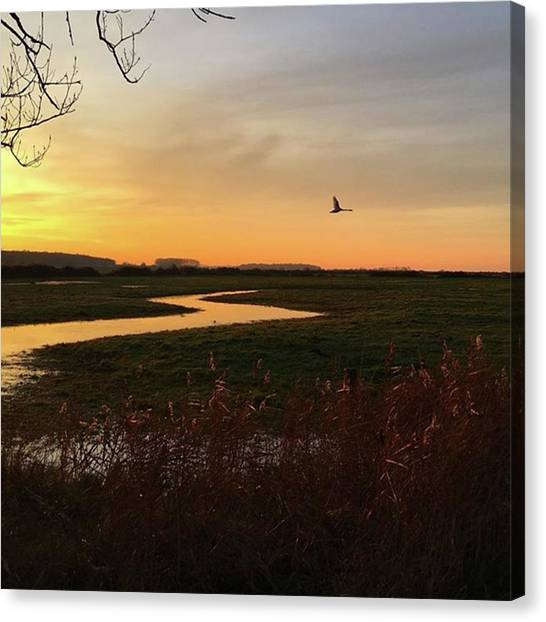 Sunset Canvas Print - Sunset At Holkham Today  #landscape by John Edwards