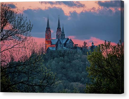 Sunset At Holy Hill Canvas Print