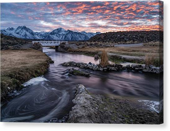 Sunset At Hot Creek Canvas Print