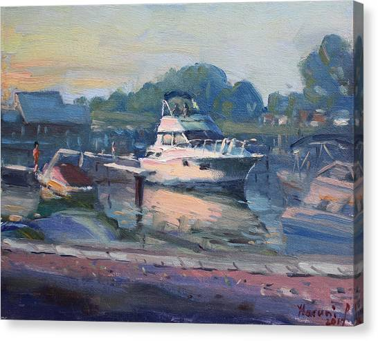 Grills Canvas Print - Sunset At Kellys And Jassons Boat by Ylli Haruni