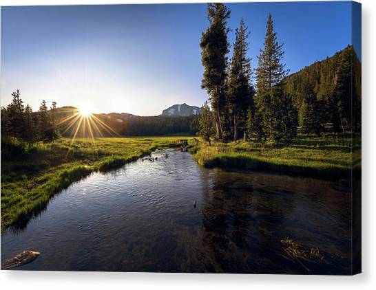 Sunset At Kings Creek In Lassen Volcanic National Canvas Print