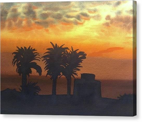 Sunset At Laguna Canvas Print by John DiMare