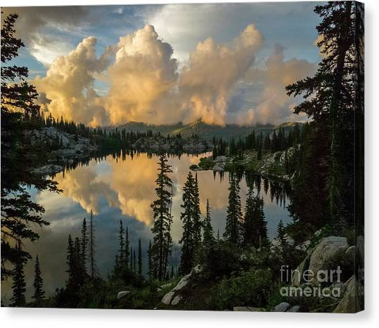 Canvas Print featuring the photograph Sunset At Lake Mary by Spencer Baugh