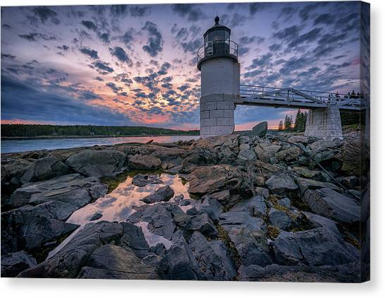 St George Canvas Print - Sunset At Marshall Point by Rick Berk