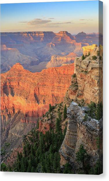 Sunset At Mather Point Canvas Print