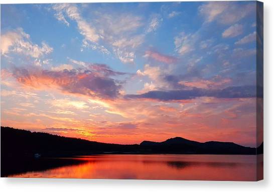 Sunset At Ministers Island Canvas Print