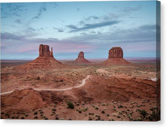 Sunset At Monument Valley No.1 Canvas Print