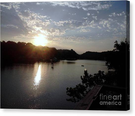 Sunset At Occoquan Canvas Print