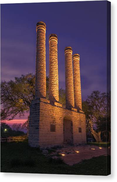 Texas Christian University Canvas Print - Sunset At Old Baylor by Stephen Stookey