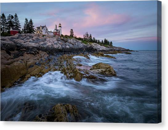 Sunset At Pemaquid Canvas Print