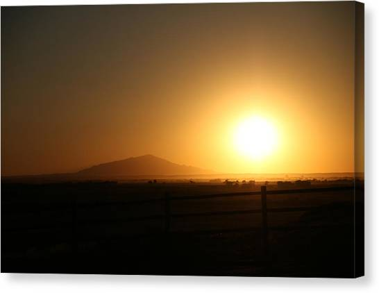 Sunset At Roswell New Mexico  Canvas Print