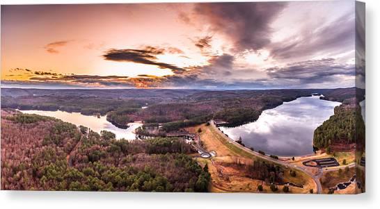Sunset At Saville Dam - Barkhamsted Reservoir Connecticut Canvas Print