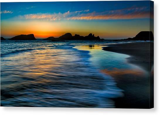 Sunset At Seal Rock Oregon Canvas Print