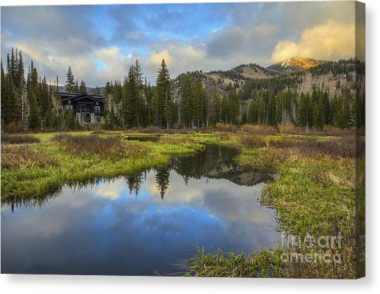 Sunset At Silver Lake Outlet Canvas Print