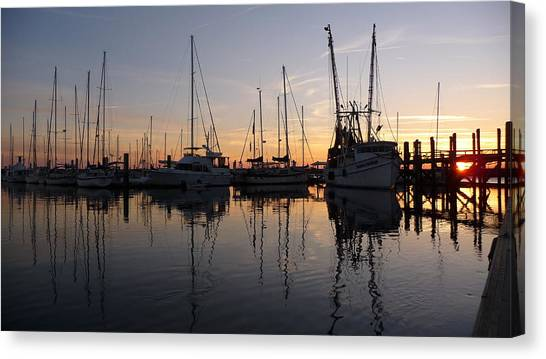 Sunset At St. Marys Canvas Print by Joel Deutsch