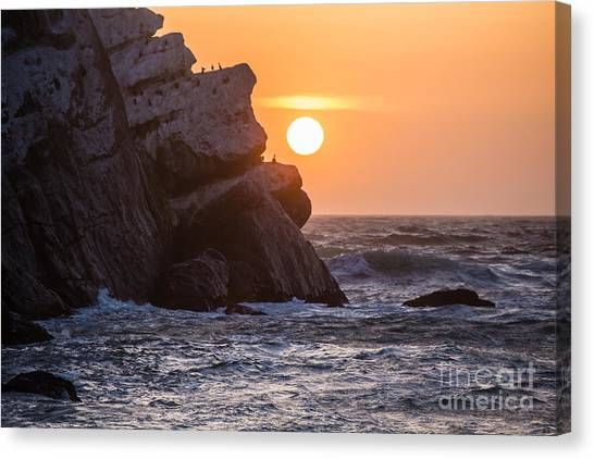 Sunset At Star Gazer Rock B3955 Canvas Print
