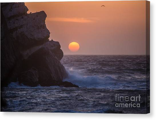 Sunset At Star Gazer Rock B3967 Canvas Print by Stephen Parker
