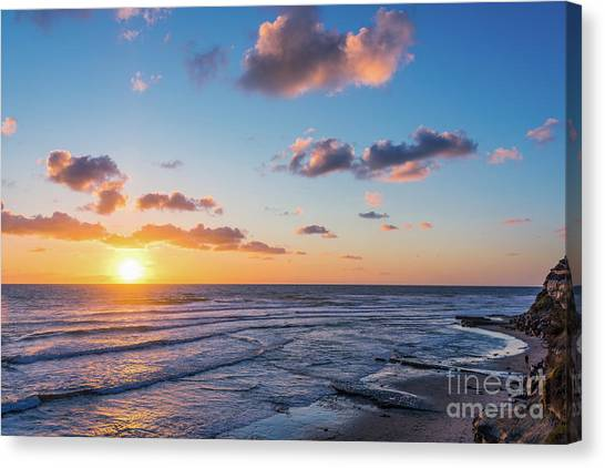 Sunset At Swami's Beach  Canvas Print